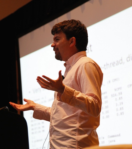 Brendan Gregg spoke at LinuxCon North America, 2014, in Chicago.